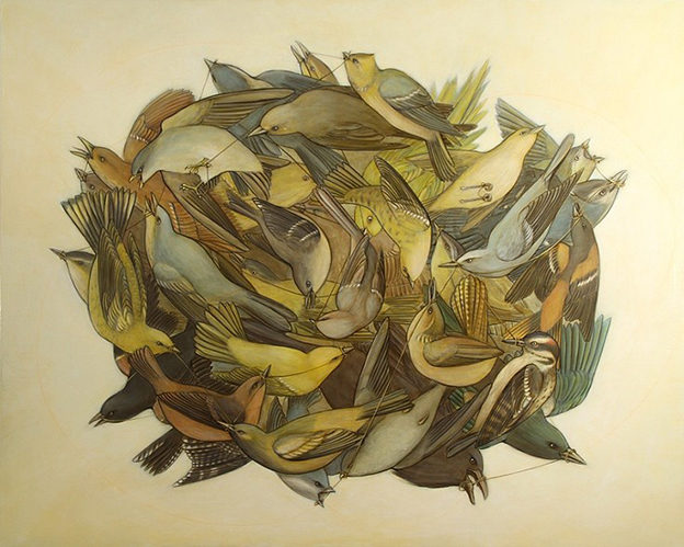 Stunning Collages Made From Audubon's Birds Of America