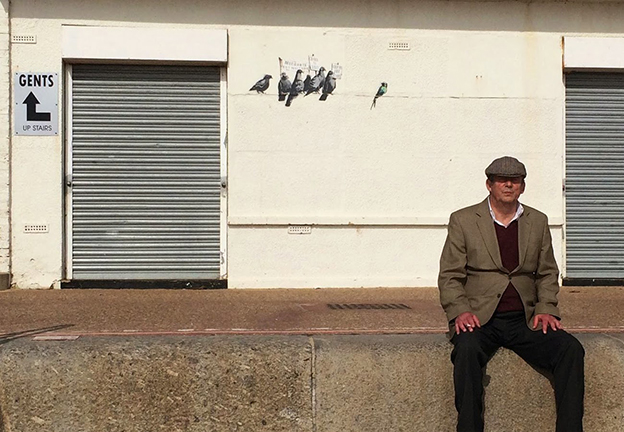 Banksy's Anti-Immigration Pigeons Mural In Clacton-on-Sea Is Destroyed