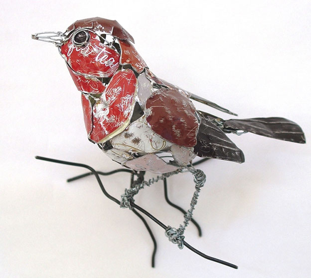 Barbara Franc's Recycled Metal Bird Sculptures