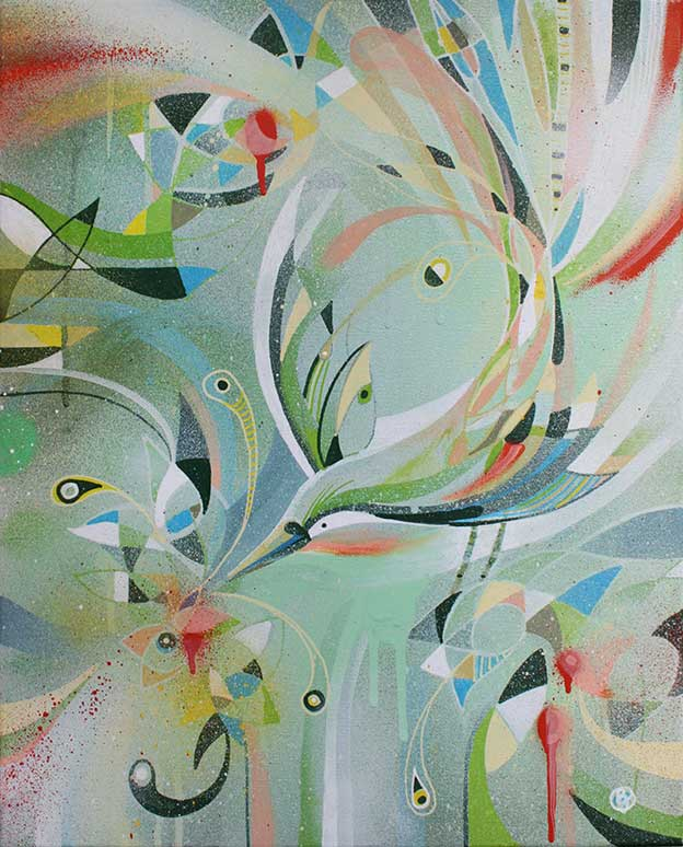 Paintings Of Fragmented Birds Created By Bex Glover