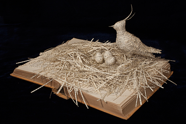 Emma Taylor's Intricate Sculptures Of Birds Made From Antiquarian Books