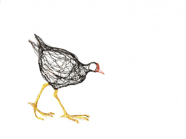 Celia Smith's Intricate Wire Bird Sculptures That Look Like Drawings