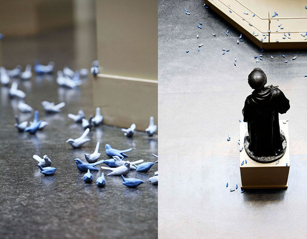 4000 Tiny Blue Birds Taken From The V&A
