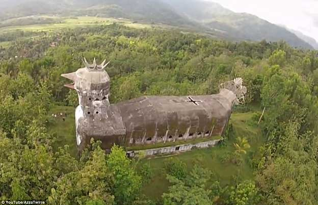 Abandoned 'Chicken Church' In The Indonesian Jungle