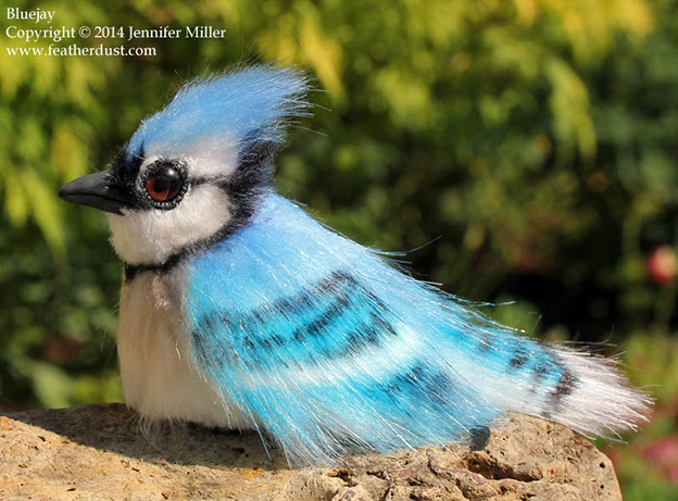 Jennifer Miller's Fuzzy Bird Sculptures