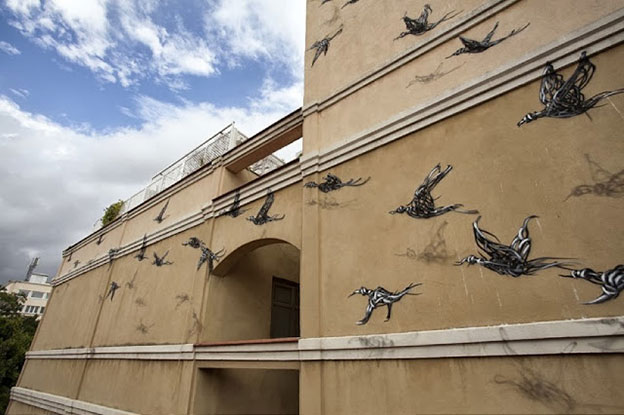 DALeast's New Mural For Maus Malaga In Malaga, Spain