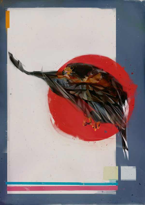 Denis Gonchar's Digital Paintings Of Birds Capture The Essence Of Flight