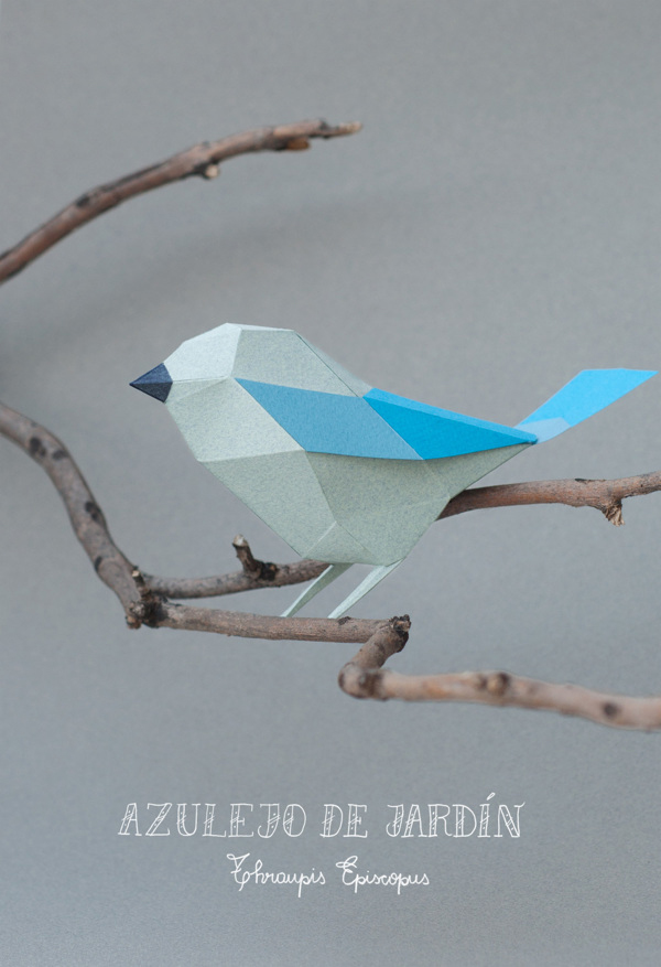 Geometric Paper Birds By Estudio Guardabosques
