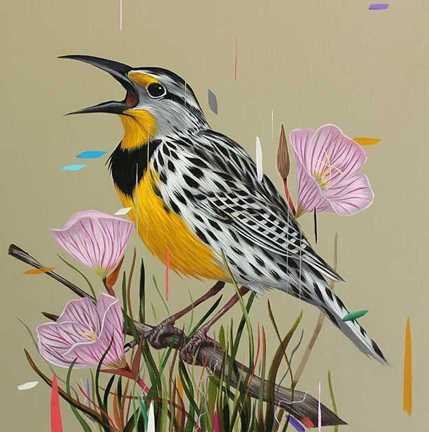 Frank Gonzales' Classical Paintings Of Birds With A Digital Deconstruction
