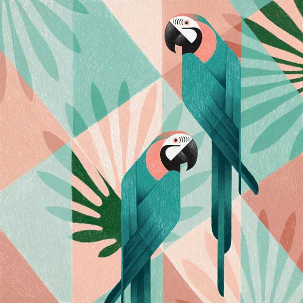 Samy Halim's Geometric Birds Created On An iPod Pro