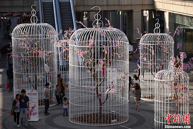 Giant Birdcage Installation To Promote A Green Lifestyle