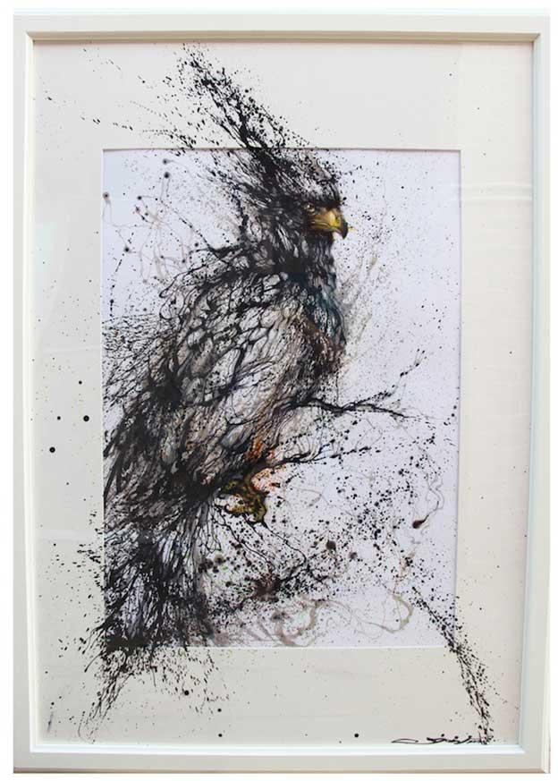 Hua Tunan's Brilliant Ink Splatter Paintings Of Birds