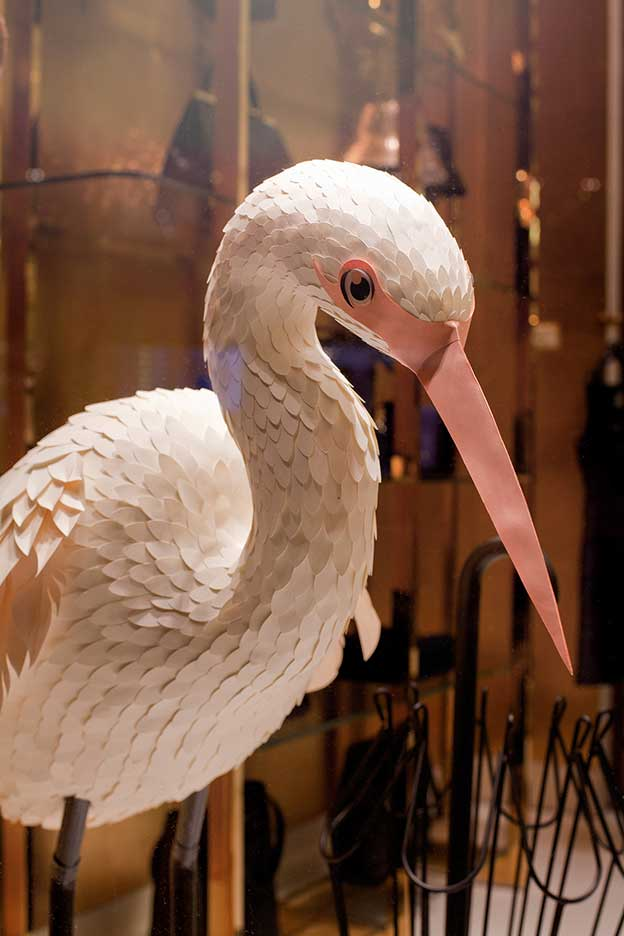 The Makerie Studio's Life-Sized Egrets For Kate Spade's Flagship Stores