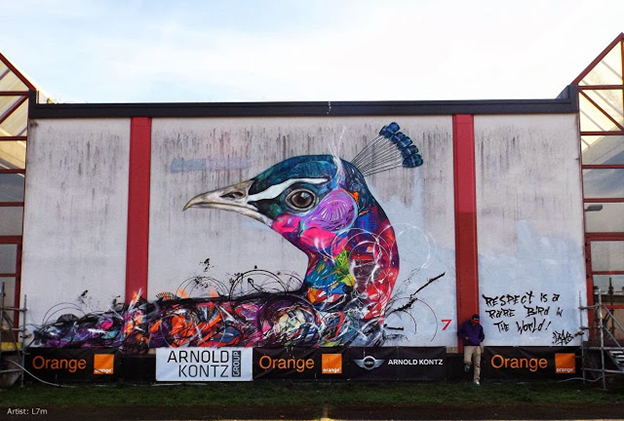 L7M's Brightly Coloured Bird Murals On The Streets Of Luxembourg