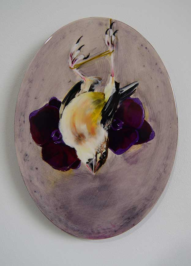 Beautiful Series Of Oil Paintings Of Dead Birds With Flowers