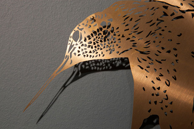 Lovely Acid Etched Brass Hybrid Birds By Claire Brewster