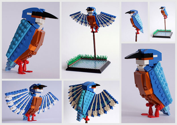 Tom Poulsom's Lego Birds - British Bird Series