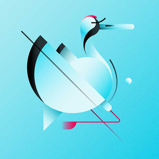 Luca Qiu's Graphical, Colourful Birds