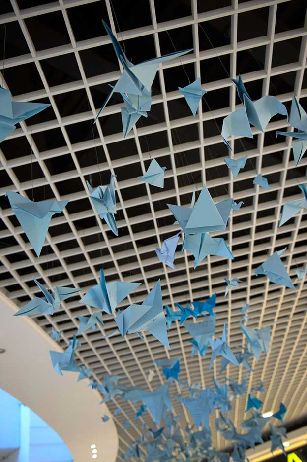 Thousands Of Origami Birds Made By Primary School Pupils Hung In Stockholm Shopping Mall