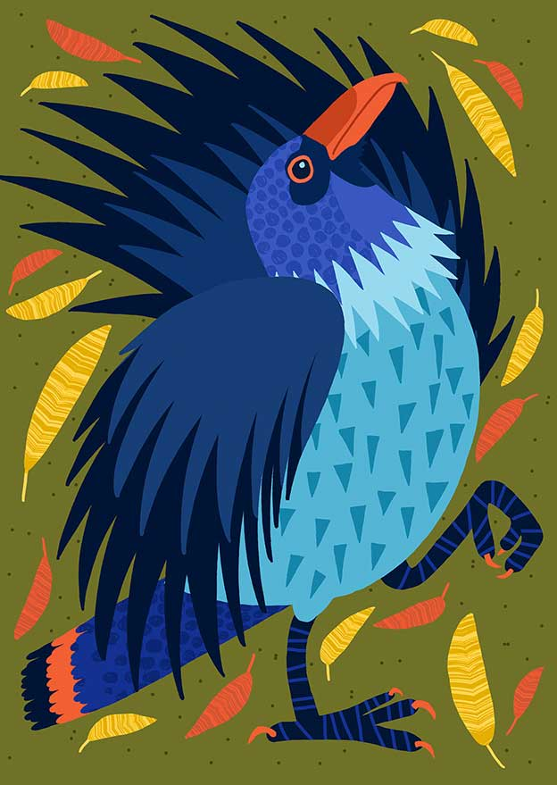 Marijke Buurlage's Colourful Marching Birds