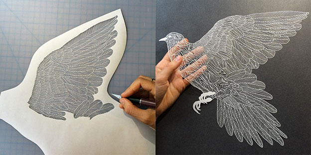 Fabulously Detailed Paper Birds By Maude White