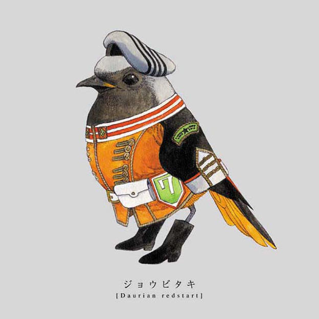 Sato's Illustrations Of Songbirds Wearing Military Uniform