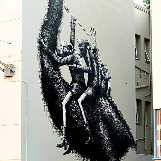Giant Moa On The Streets Of New Zealand By British Street Artist Phlegm