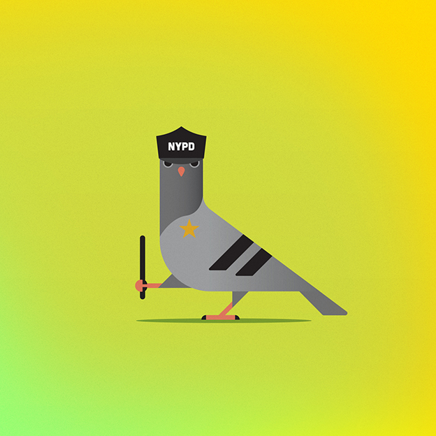 Joshua Jevons' Quirky Illustrations Of New York Pigeons
