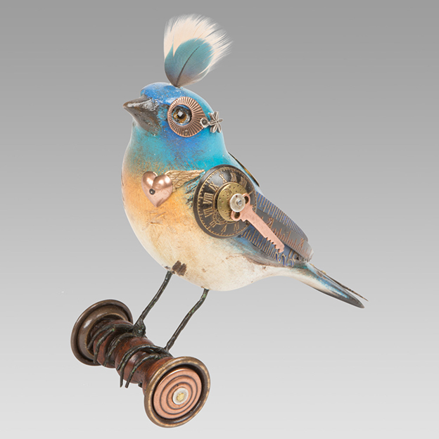 Mullanium's Creative Steampunk Birds Made From Recycled Materials