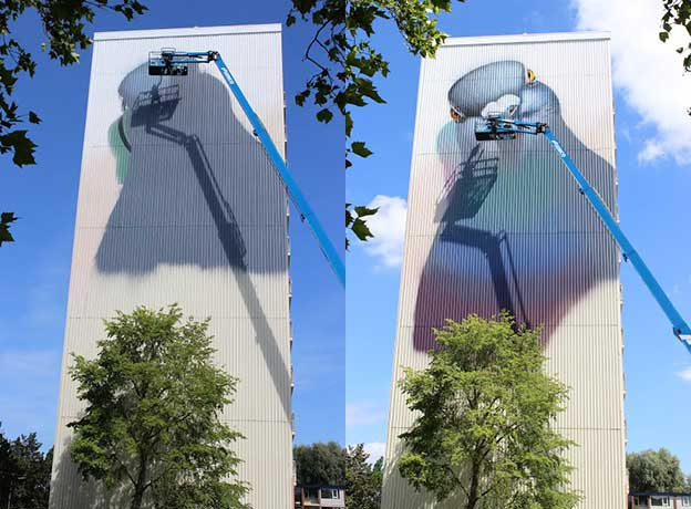 Super A's Giant Pigeon For The MuralGoes Festival