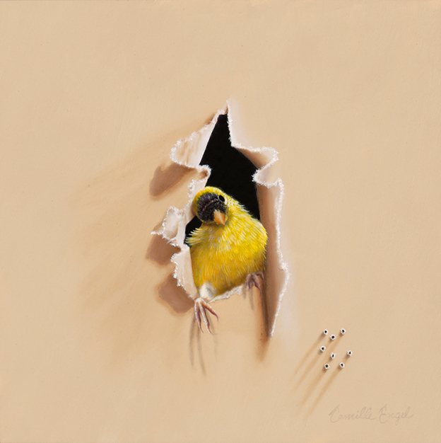 Paintings Of Birds Portrayed As Welcome Trespassers In An Artist's Studio