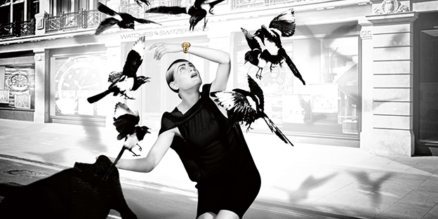 Watches Of Switzerland Homage To 'The Birds' Advertising Campaign