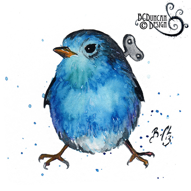 Braden Duncan's Adorable Watercolours Of  Wind-Up Birds
