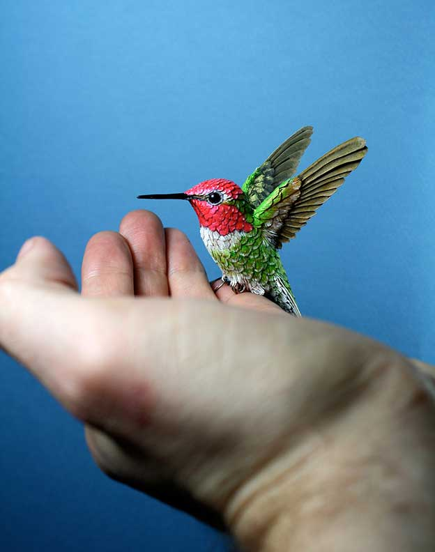 Zack Mclaughlin's Realistic Wood And Paper Birds