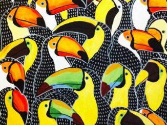 Johanna Burai's Acrylic Paintings Of Colourful Birds