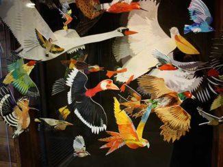 Flock Of Birds Collage For Yorkshire Sculpture Park