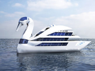 Elegant White Swan Yacht Concept Designed By Vasily Klyukin