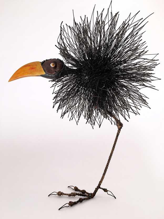 Tom Hill's Birds Made Of Wire And Wood